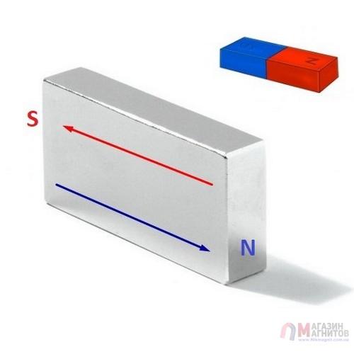 50 x 25 x 10 mm DN - Прямоугольный магнит