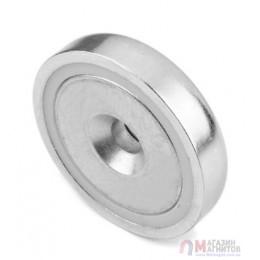 Магнит в металлическом корпусе под потай A16