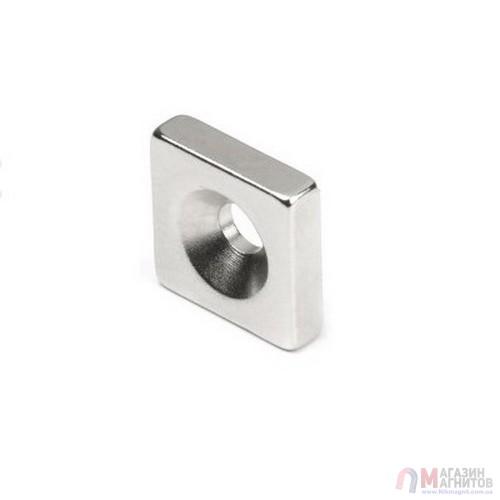10 x 10 x 3 - 7/3 x 1 - Квадратный Крепежный Магнит
