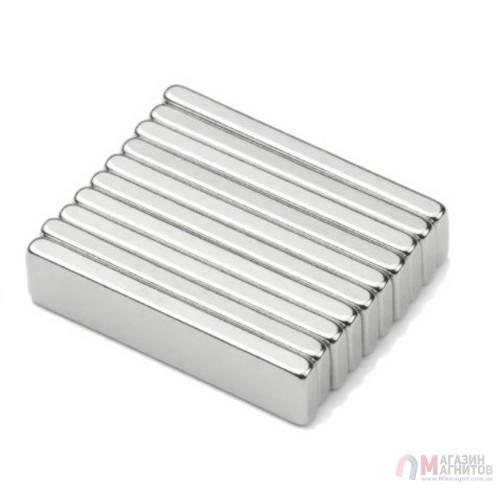 40 x 5 x 2 mm - до 150 °С -  Прямоугольный магнит 38SH