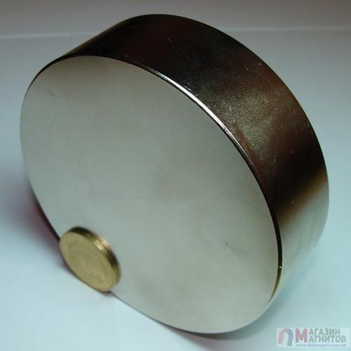 Ø D100 mm х H30 mm - Магнит Шайба