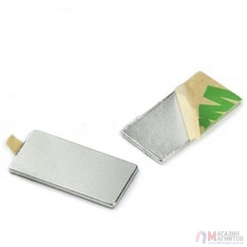 20 x 10 x 1 mm (самоклейка) - Прямоугольный магнит